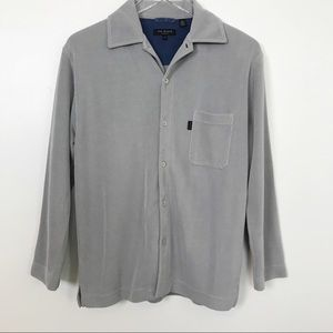Ted Baker Button Down Ribbed Long Sleeve Shirt